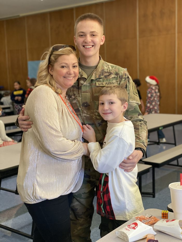 Soldier Surprises Sibling with Military Homecoming