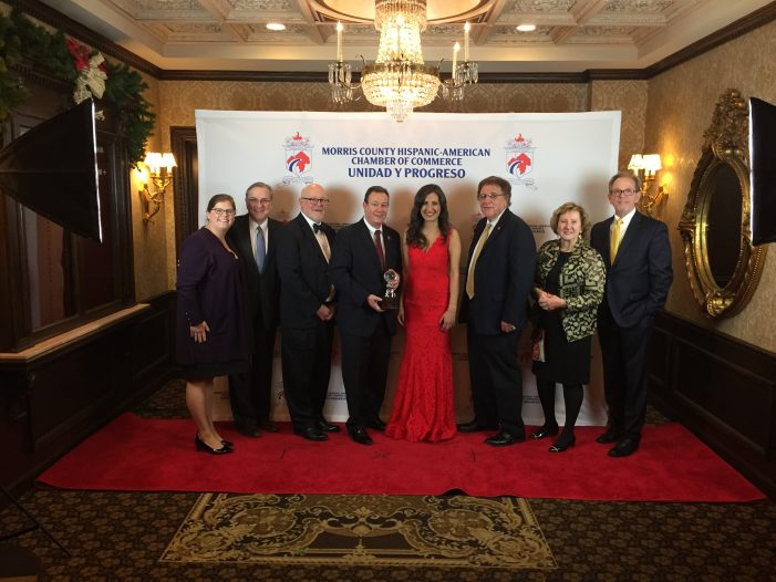 CCM President Presented with Enterprise Award from Morris County Hispanic-American Chamber of Commerce
