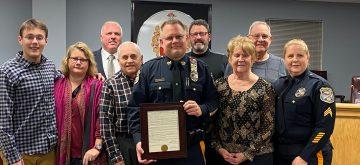 Mount Olive Police Bid Farewell to Lt. Craig Austenberg