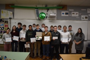 West Morris Central Sustainability Engineers Receive STEM Award