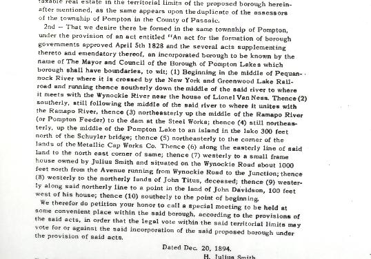 Pompton Lakes Celebrates 125 Years