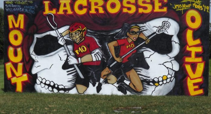 Former Mt. Olive Student Athlete, Artist Jessica Murr Creates Eye Catching Lacrosse Club Mural Poster