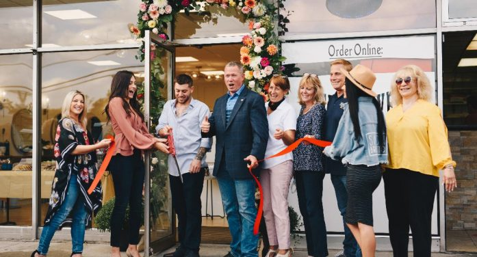 A Ribbon Cutting was done by Mayor Ryan Herd at the new Salon Brugatta.