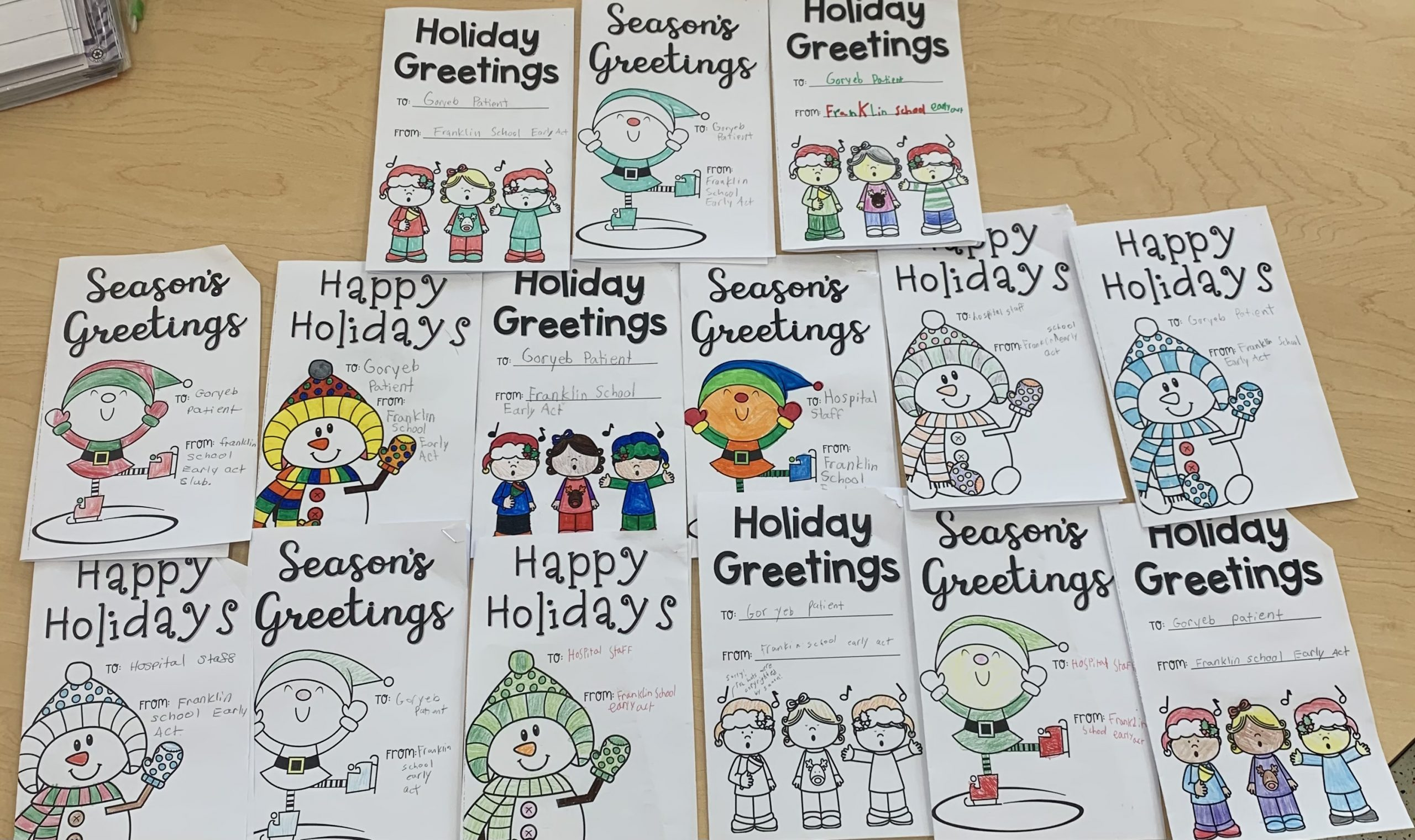 Holiday Cards for Goryeb