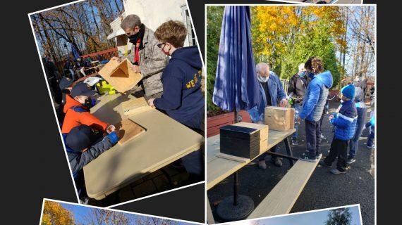 Scouts Build Bat Boxes