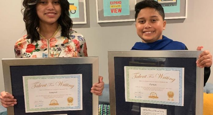 Sixth-Grade Twins Named Poetry Publications Finalists