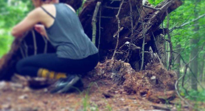 Allison Tyler's surreal sculptures in the woods