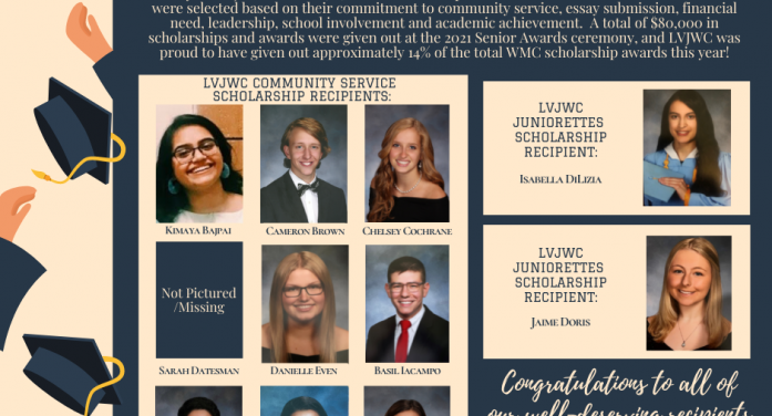 Long Valley Junior Women's Club Awards $11,000 in Scholarships to West Morris Grads