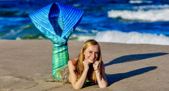 Making a splash: the water gives Pompton Lakes mermaid life